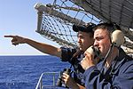 Small-arms qualifications, live-fire exercise aboard USS John C. Stennis DVIDS122304.jpg