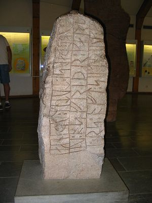 House of Olaf - The runestone DR 4 raised after Sigtrygg by his mother.