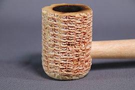 Smoking pipe corn cob bowl natural