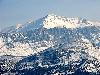 Dikti - Image: Snow Covered Dikti Summit Spathi