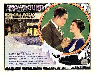 Snowbound (1927 film) - Lobby card