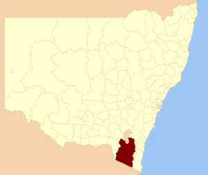 Snowy Monaro Regional Council - location in New South Wales