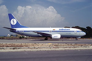 Sobelair - A Sobelair Boeing 737-300 in 1987.