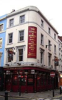 Coach and Horses, Soho pub in Soho, London