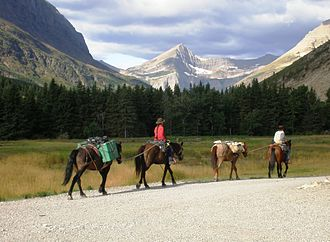 Continental Divide Trail - Glacier National Park in September 2009.
