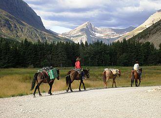 Continental Divide Trail - Glacier National Park in September 2009.