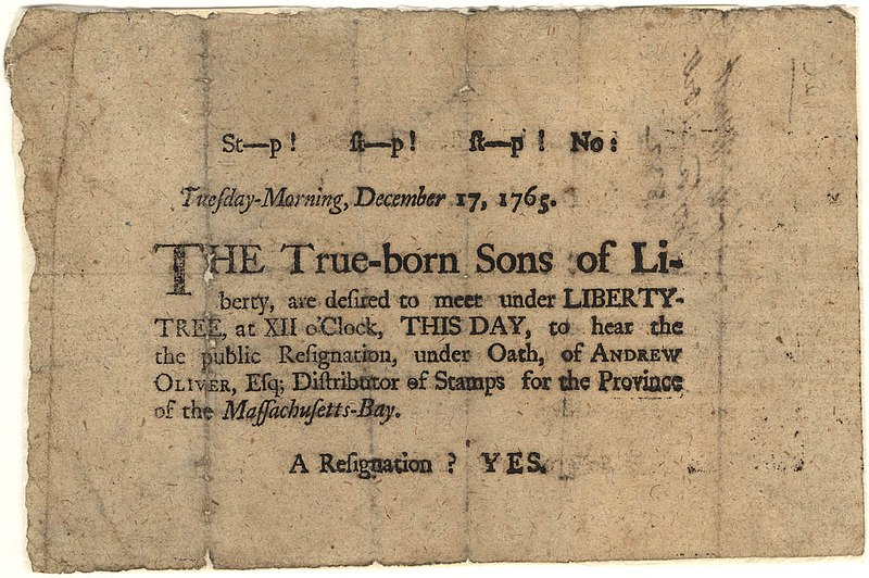 File:Sons of Liberty Broadside, 1765