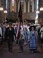 Sortie du drapeau de la Confrérie Saint Fiacre.jpg