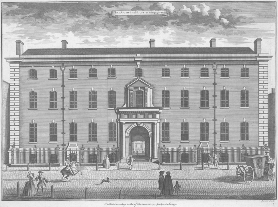 SouthSeaHouse Stowe%27sSurveyOfLondon 1754