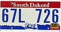 South Dakota 2006 license plate - 67L 726.jpg