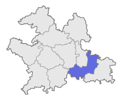Location of South Solapur Taluka in Solapur District