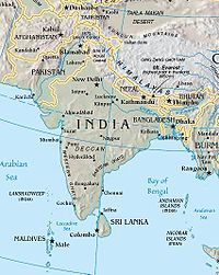 Location of South Asia
