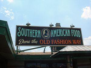 "Cuisine of the Southern United States - ""Southern cuisine"" is recognized by many Americans as suggested by this sign on a restaurant in the Florida Panhandle."
