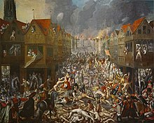 Painting of mayhem in Antwerp