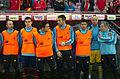 Spain - Chile - 10-09-2013 - Geneva - Andres Iniesta, Nacho, Koke, Alvaro Negredo, david Villa and José Reina.jpg