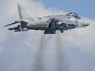 Harrier Jump Jet Multirole combat aircraft family by Hawker Siddeley, later British Aerospace