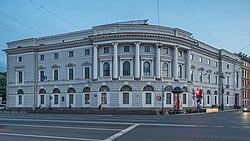 Главное здание библиотеки (1796—1801, арх. Е.Т.Соколов, К. Росси, Е.С. Воротилов)