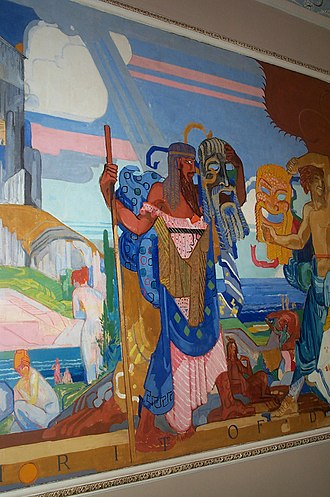 Playhouse Square - Part of James Daugherty's The Spirit of Drama – Europe, one of four murals in the lobby of the State Theater