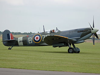 Supermarine Spitfire (late Merlin-powered variants) - Spitfire LF Mk IX MH434 of Duxford's Old Flying Machine Company.
