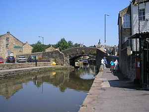 Thanet Canal - The Springs Branch leading off northwards from its junction with the Leeds and Liverpool canal