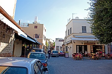 Square in north old town of Rhodes 2010 2.jpg