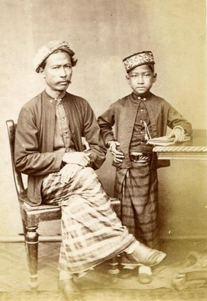 Islam in Sri Lanka - Sri Lankan Malay Father and Son, 19th century