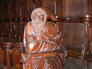 English: St.Martin in Memmingen. Choir stalls:...