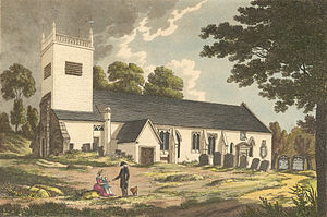 St Peter's Church, Caversham - View from the south, 1800-1809