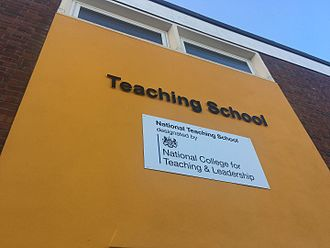 St Bonaventure's - New signage for the newly designated Teaching School