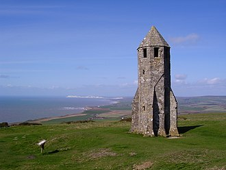 """St. Catherine's Oratory - The """"Pepperpot"""" on St. Catherine's Hill."""
