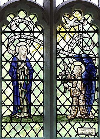 Archibald Keightley Nicholson - The Annunciation window at St John the Baptist, Wonersh, Surrey
