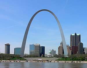 The Gateway Arch, part of the Jefferson Nation...