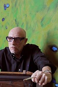 Stained glass artist Brian Clarke in studio.jpg