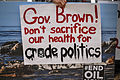 Stand In the Sand - Santa Barbara (5-31-15) Gov Brown California (18335954442).jpg