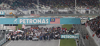 Petronas - Petronas has sponsored the Formula One Malaysian Grand Prix as the title sponsor since its inaugural race in 1999.