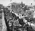 State visit to Jerusalem of Wilhelm II of Germany in 1898. General view of street procession.jpg