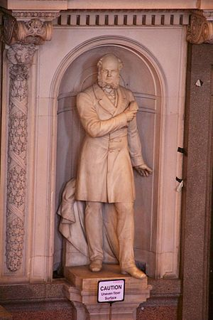 Samuel Robert Graves - Statue in St George's Hall, Liverpool