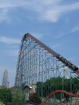 Steel Force - Steel Force lift hill and return