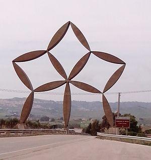 Pietro Consagra - Consagra's gate at Gibellina, Sicily