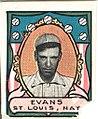 Steve Evans, St. Louis Cardinals, baseball card portrait LCCN2007683844.jpg