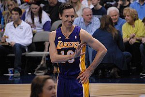 Steve Nash - Nash with the Los Angeles Lakers in 2013