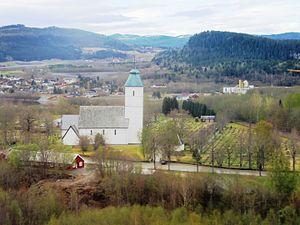 Stjørdal - Værnes church from north