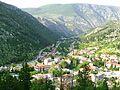 Stolac pobliz Mostaru v udoli ricky Bregavy, pohled z hradu.jpg