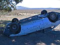 Stolen vehicle, wrecked, and shot in the Prineville area.jpg