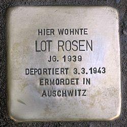 Photo of Lot Rosen brass plaque