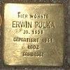 Stolperstein Bernstorffstr 99 für Erwin Pulka