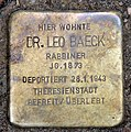 Stolperstein Fritz-Elsas-Str 15 (Schön) Leo Baeck.jpg
