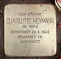 Stolperstein Hektorstr 3 (Halsee) Charlotte Heymann.jpg