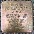 Stolperstein Kleve Bahnhofstraße 21 Dr Max Wolff.jpg