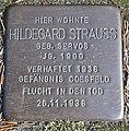 Stolperstein Lüdinghausen Bahnhofstraße 5 Hildegard Strauss.jpg